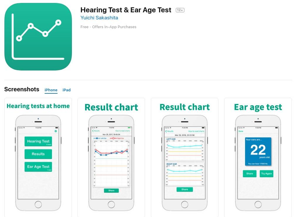 Hearing Test & Ear Age Test